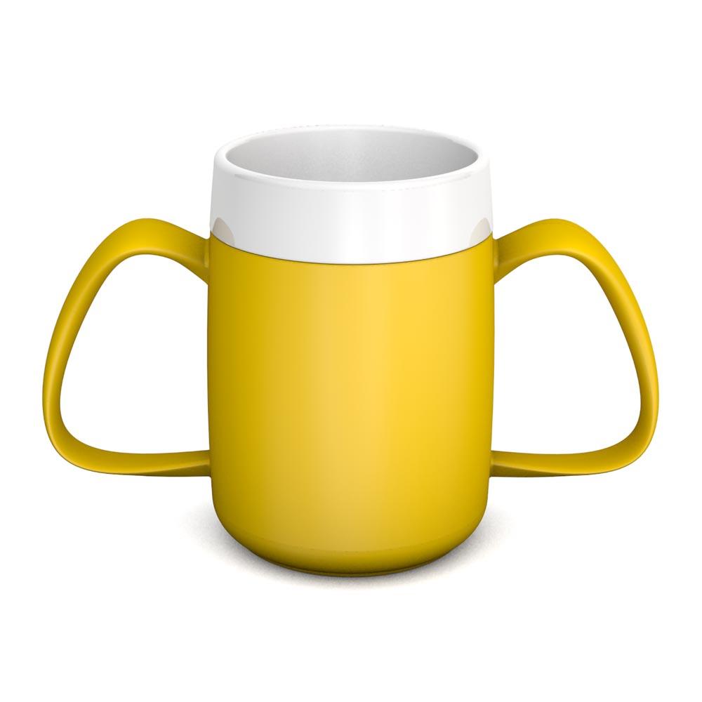 2-Henkel-Becher mit Trink-Trick