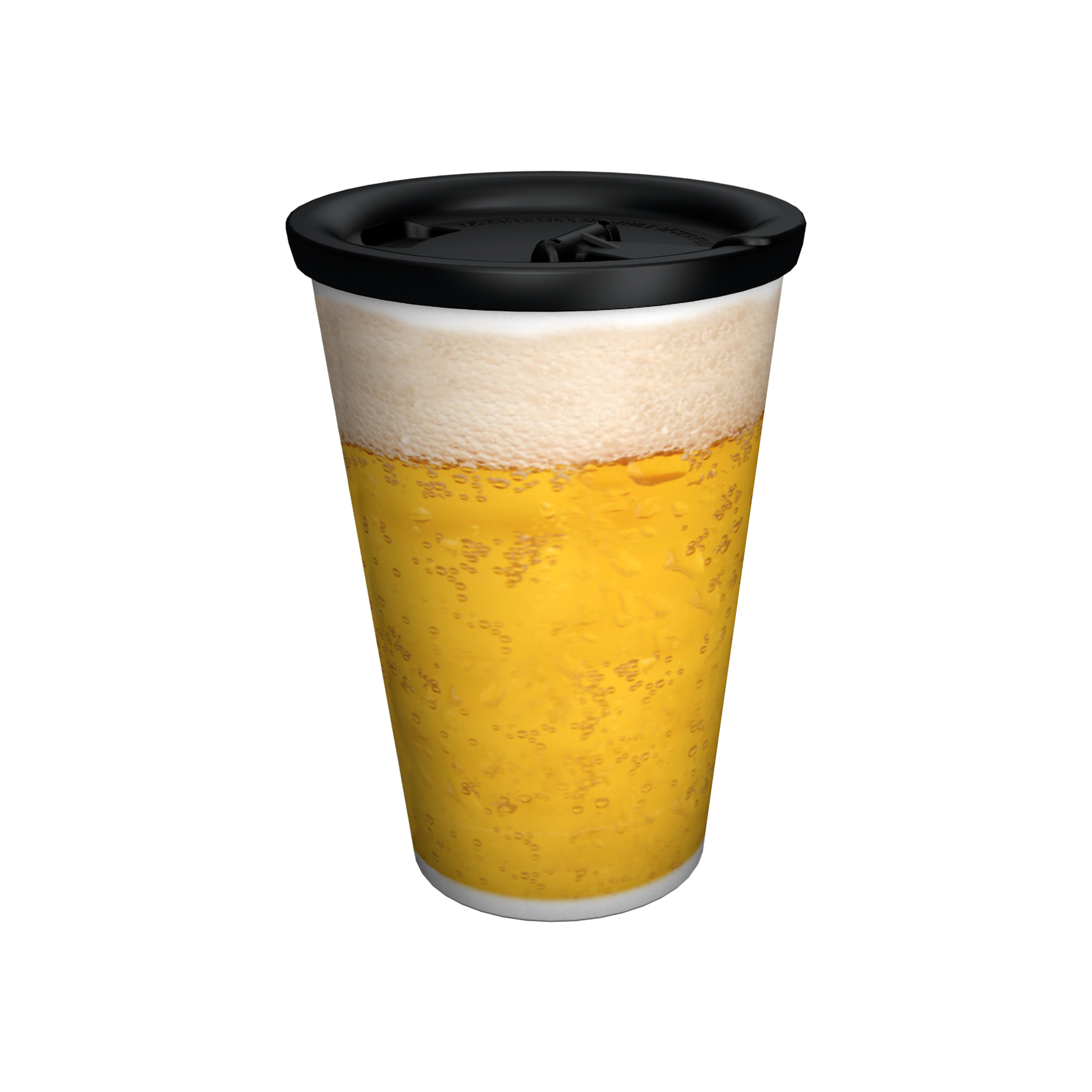 Coffee to go-Mug Beer-Edition with lid