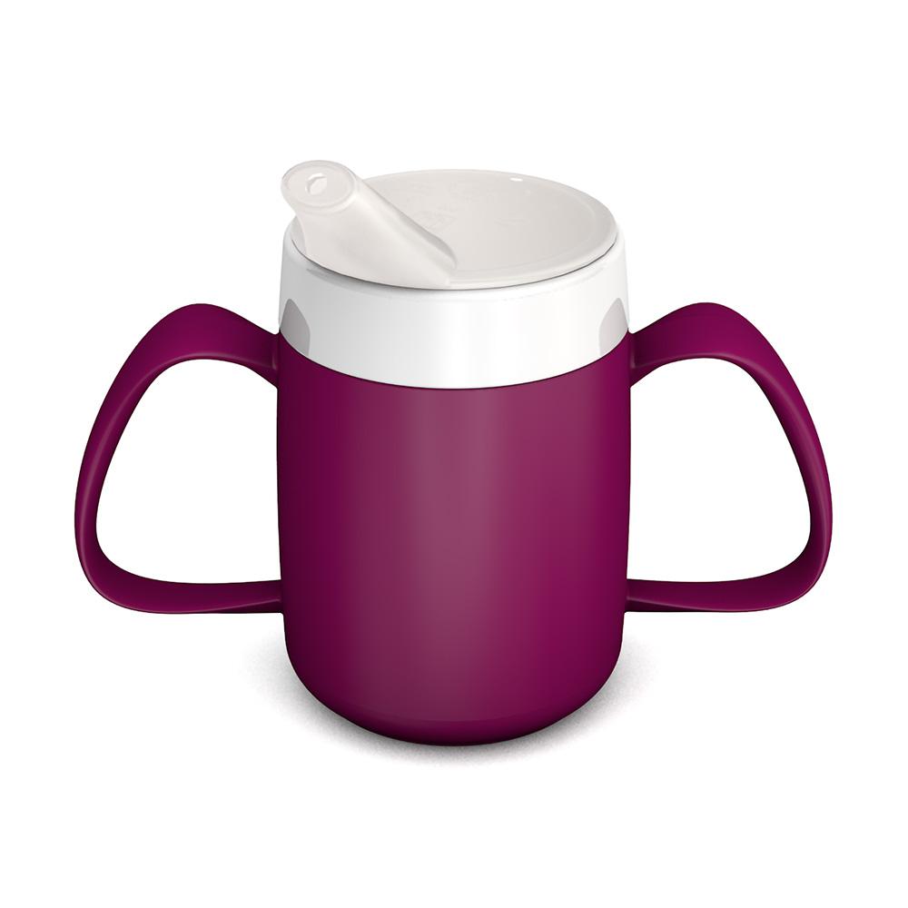 2-Henkel-Becher mit Trink-Trick mit Schnabelaufsatz kleine Öffnung