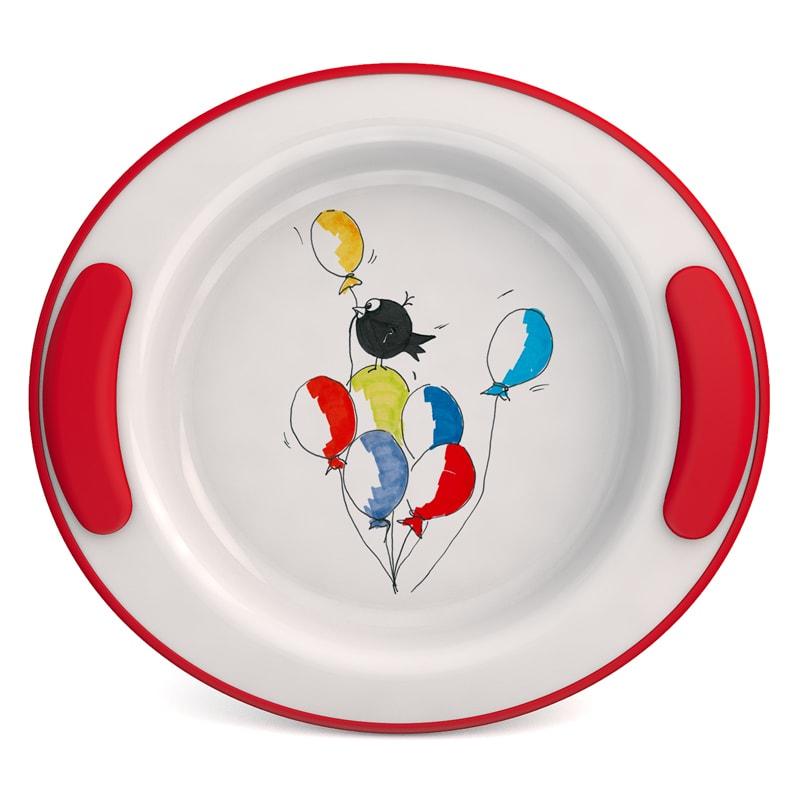 "Keep Warm Plate for Children Ø 25,5 cm, Decor ""Balloons"""