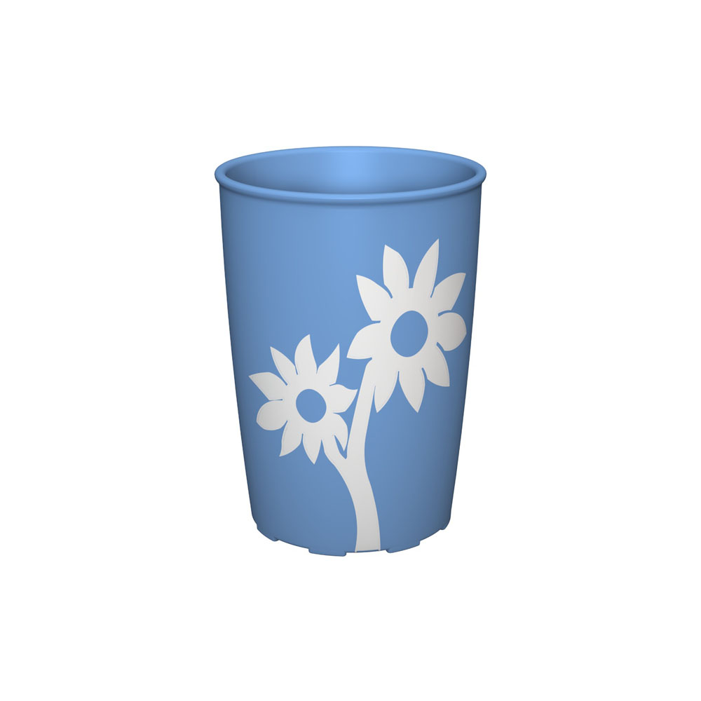 Non-Slip Cup with Flower 220 ml