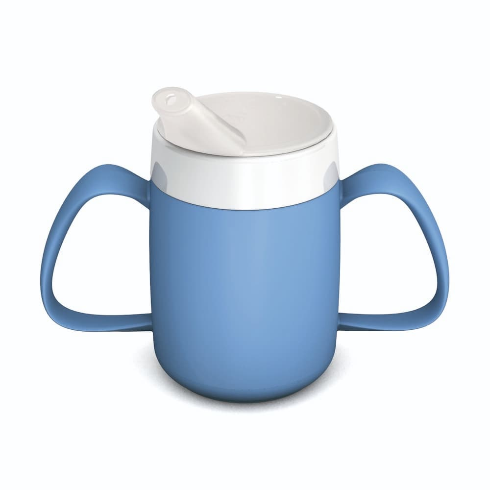 Two Handled Mug with Internal Cone 140 ml with Spouted Lid