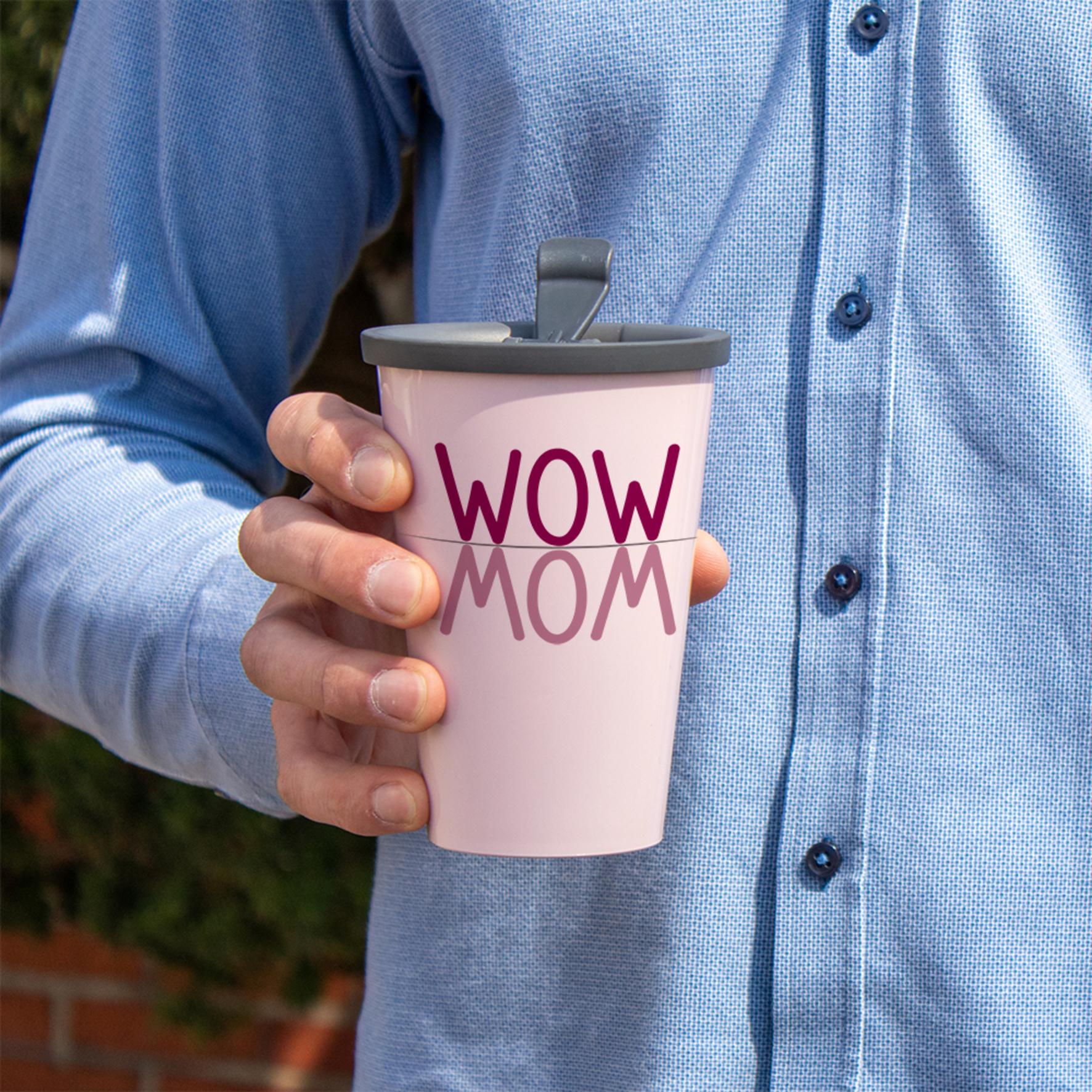 WOW MOM Coffee to go Becher mit Deckel