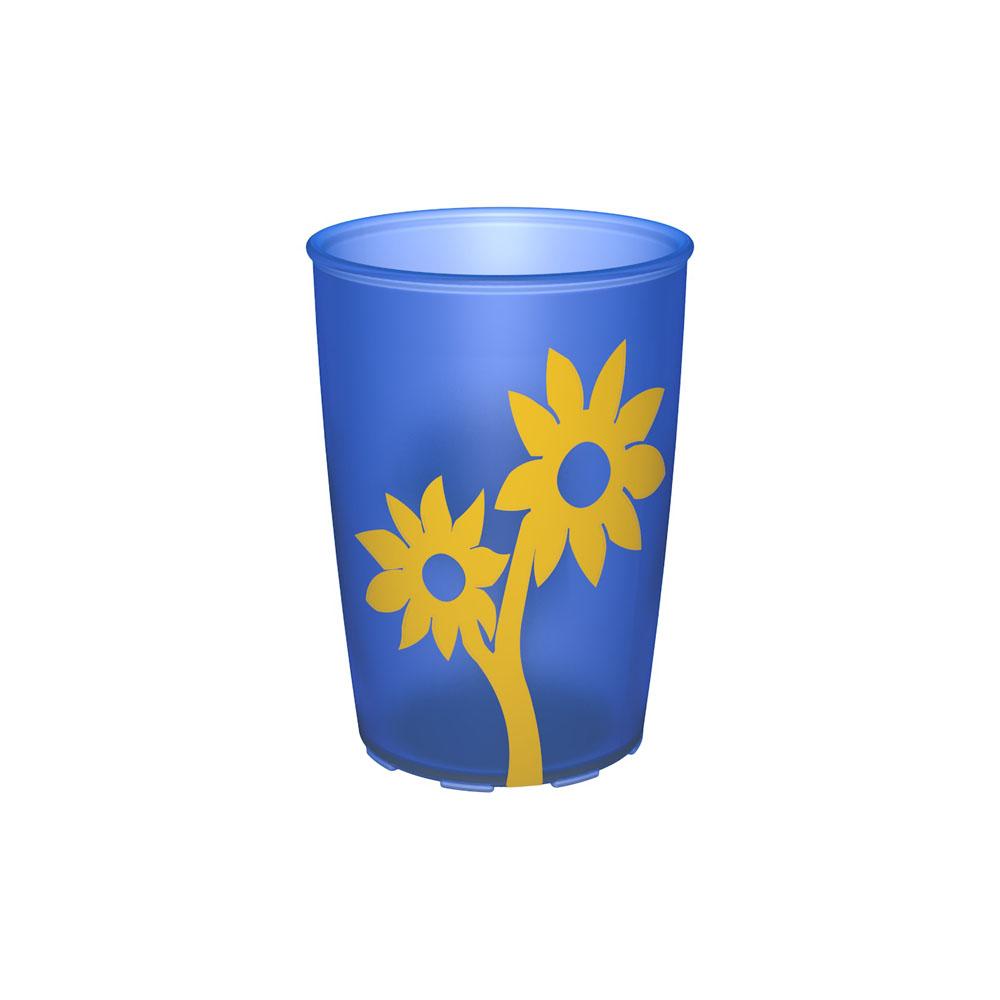 Becher mit Antirutsch-Blume 220 ml