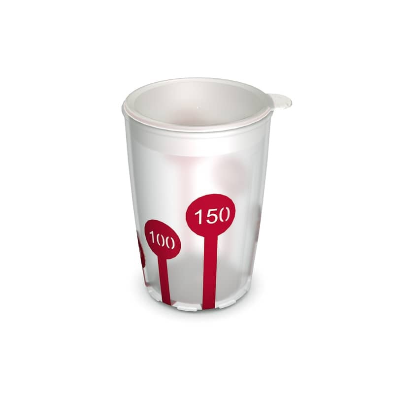 Non-Slip Cup with Scale 220 ml and Drinking Lid