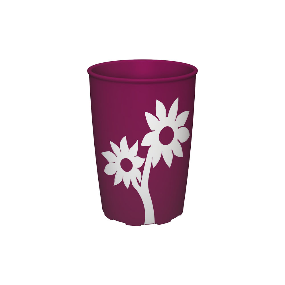 Becher mit Antirutsch-Blume