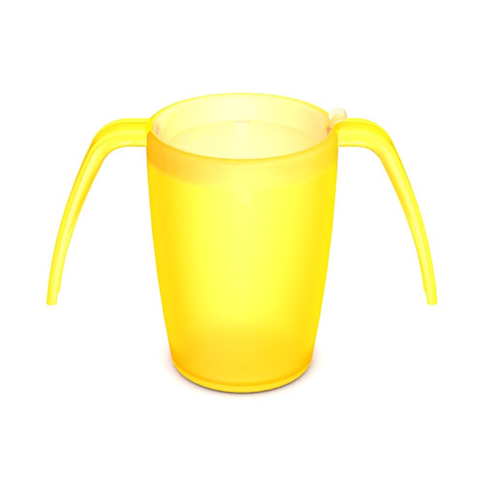 2-Henkel-Becher mit unauffälligem Trinkdeckel