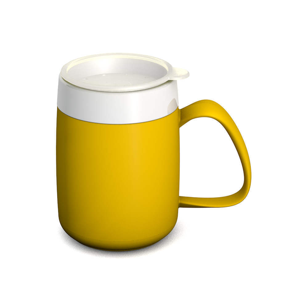 Mug with Internal Cone 140 ml and thermal function with discreet Drinking Lid
