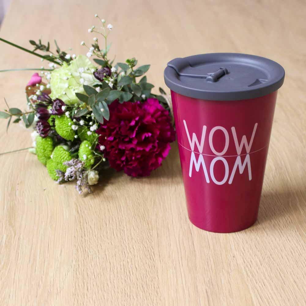 WOW MOM Coffee to go-Mug with lid