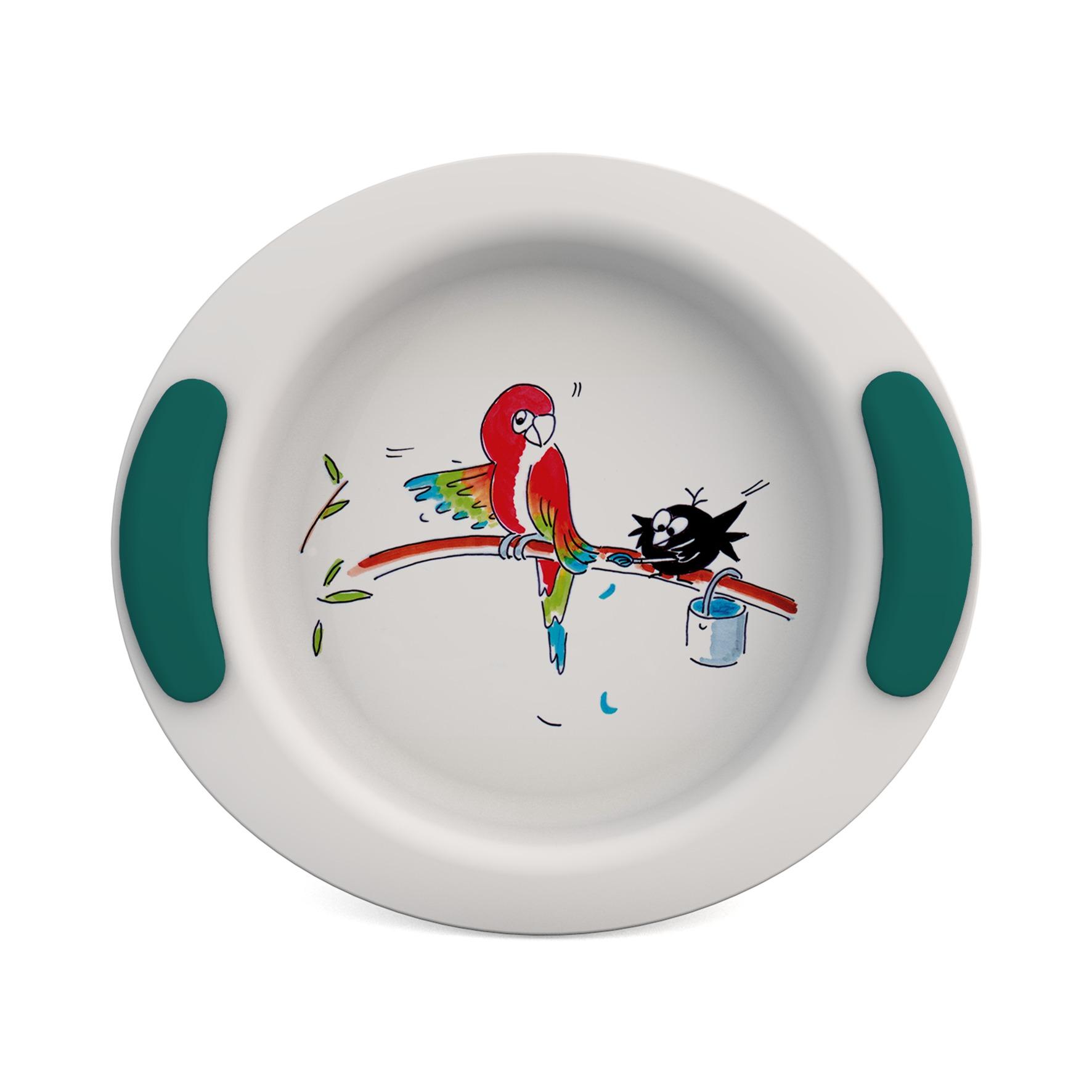 Non-Slip handle grips for children's tableware