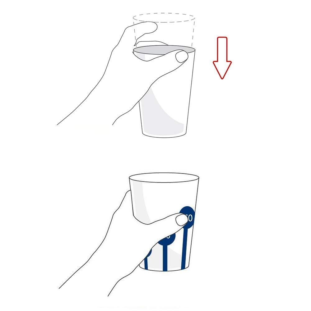 Becher mit Antirutsch-Skala mit Trinkdeckel