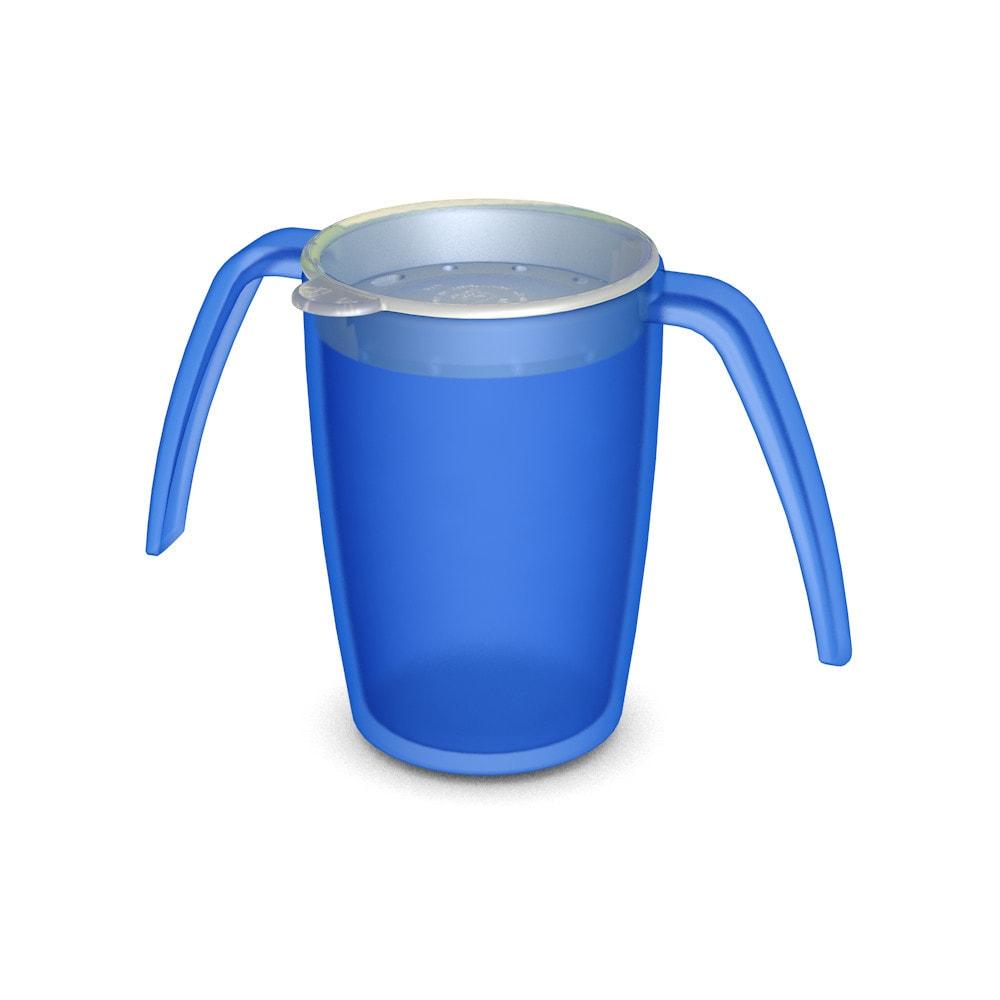 Two Handled Mug 220 ml with drinking lid
