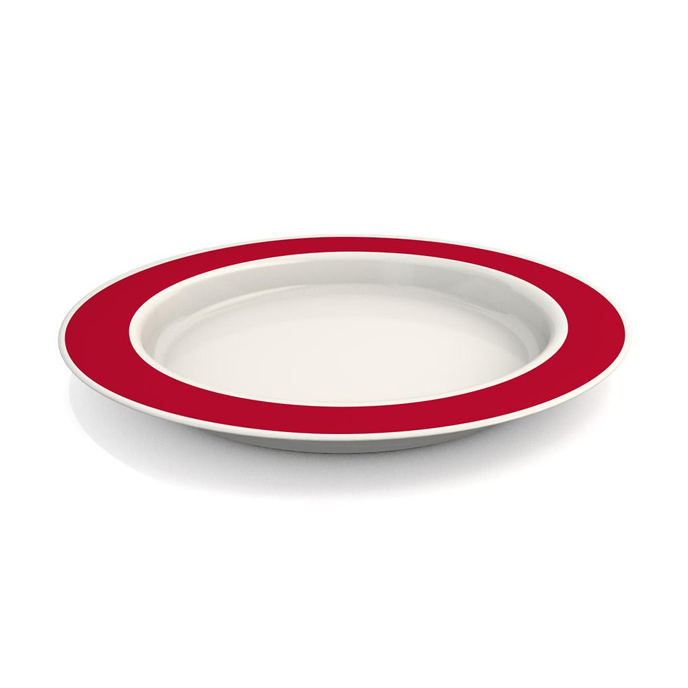 Großer Teller mit Kipp-Trick