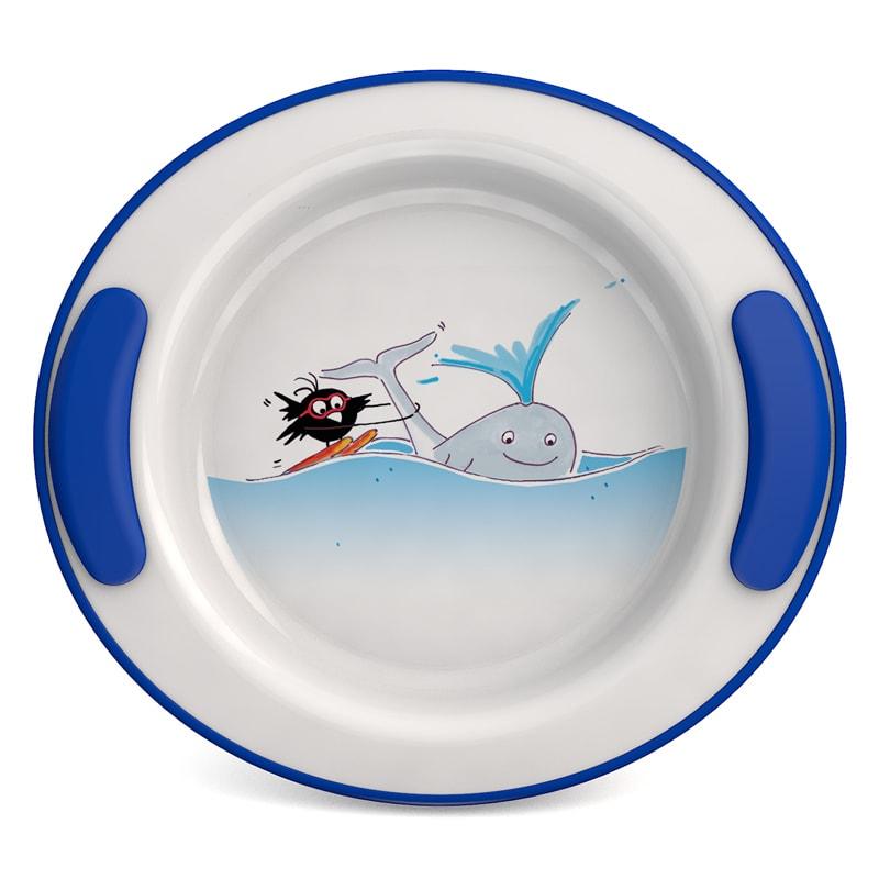 "Keep Warm Plate for children Ø 25,5 cm, Decor ""Whale"""
