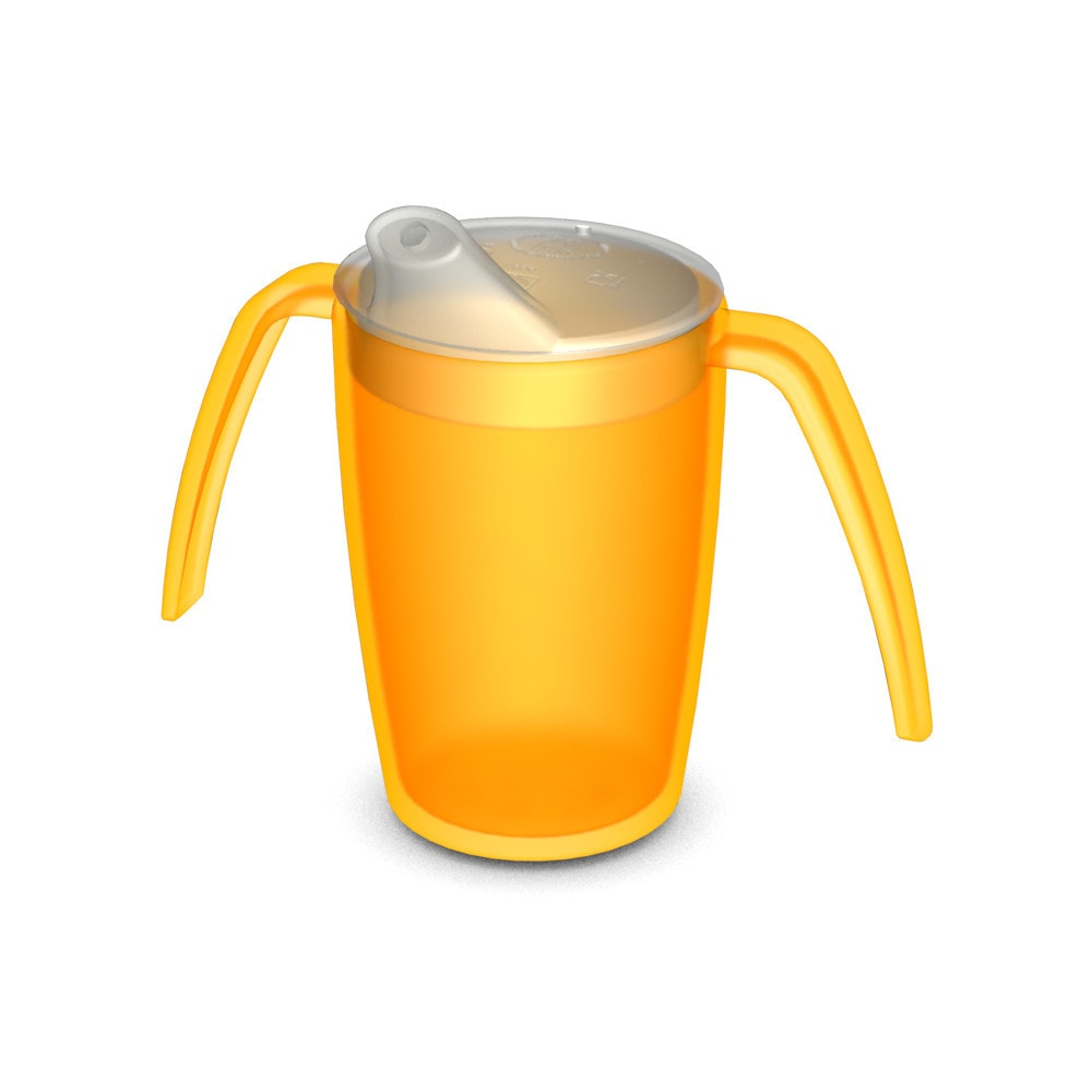 Two Handled Mug 220 ml with Spouted Lid